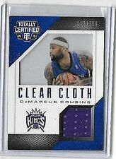 DeMARCUS COUSINS '14-15 TOTALLY CERTIFIED CLEAR CLOTH GAME USED JERSEY#/199