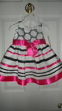 Bonnie Baby Girls Infant Organza Dress With Ribbon Trim 12M NWT