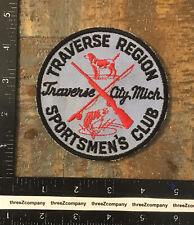 Vintage Traverse Region Sportsmen's Club Michigan Hunting Fishing Patch Twill