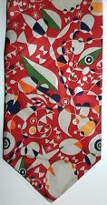 """Joan Miro Necktie New Without Tags """"Woman Surrounded by the Flight"""" art silk tie"""