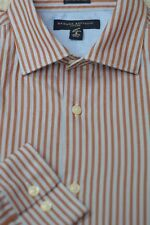 Banana Republic Men's Blue Crimson & Gold Stripe Cotton Casual Shirt S Small