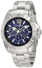 Haurex Italy Mens 0A366UBB Aston Chronograph Luminous Blue Dial Steel Date Watch