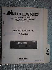 New listing Midland 67-490 service manual original repair book mpx car radio tape player