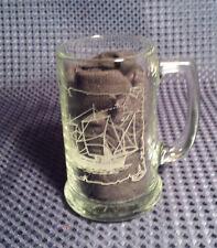 Vintage Long John Silver Stein Glass Mug The PINTA Ship Boat