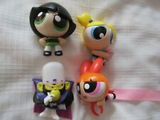 2016 MCDONALDS POWER PUFF GIRLS SET LOT 4 FIGURES BLOSSOM BUBBLES MOJO BUTTERCUP