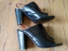 Tahari Womens shoes Size 6 M Slingbacks Booties Block Heels Black Mimi *Flaw*