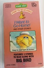 Sesame Street Start-To-Read Video:I Want to Go Home(VHS,1987)Big Bird-VERY RARE