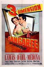 SANGAREE (1953) Vntg orig one sheet 3-D poster coming-out-of-the-screen graphics