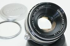 Canon Rangefinder 35mm F1.8 Leica Screw Mount LTM M39 RF Lens