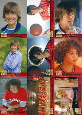 HIGH SCHOOL MUSICAL MOVIE 1 2007 TOPPS MINI MASTER BASE SET + 3 INSERT CARD SETS