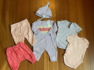 Gymboree Baby Girl Layette 6 Piece Set Pink & Purple  0-3 Months NWT