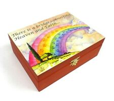 Pet Cremation Urn Rainbow Bridge Poem Large Dog Cat Ashes Memorial Wood Box