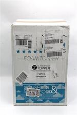 DreamFoam Bedding 2-Inch Ultimate Dreams Gel Memory Foam Topper, Twin