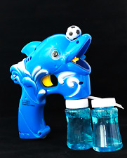 Dolphin Bubble Gun Blower Blaster with Flashing LED Lights & Music 2 Refill