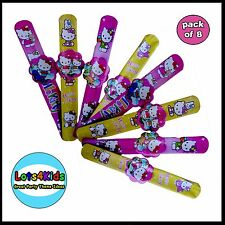HELLO KITTY KIDS FUN BRACELETS PARTY LOOT BAG FILLERS - PACK OF 8