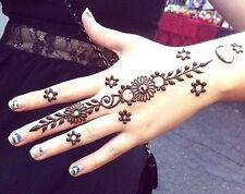 3 X Organic Kajal Brown Henna Cones Temporary Tattoo Body Art Ink USA SELLER