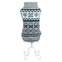 Grey Norwegian Dog Sweater - Patterned Dog Jumper XS-XXL - RichPaw