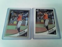 Uncirculated Carlos Correa Panini Donruss Silver Optic + Matching Donruss