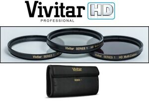 UV POLARIZER & FLD Filter Kit (3-Pc Hi Def) For Panasonic Lumix DMC-FZ300