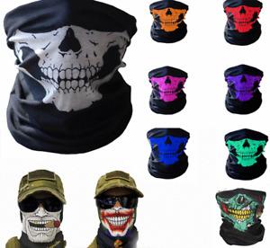 Balaclava Face Mask Scarf Neck Skull Gaiter Fishing Biker Washable UV Protection