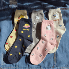 Molang Womens Cute Casual Soft Warm Comfortable Socks US 5-8 Size 5 Pairs #5