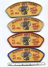 1993 BSA National Jamboree JSP Set - (4) Alapaha Area Council