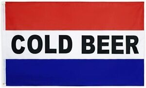 3x5FT Advertising Flag COLD BEER Bar Restaurant Grocery Banner Man Cave Dorm