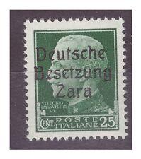 ZARA  1943  - 25  CENTESIMI -  PRIMO  TIPO   NUOVO **