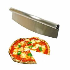 Pizza Rocker Slicer Cutter Mezza Luna Chopper Knife