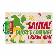 Official Elf (Santa's Coming) Door Mat