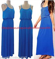 Womens Party Club Casual Summer Spaghetti strap Full Length Long Maxi Dress XL