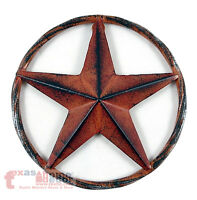 Barn Star Rust Red Rustic Tin Metal Rope Like Ring Texas Wall Decor 3D 8""