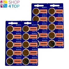 20 SONY CR2025 LITHIUM BATTERIES 3V 160 MAH CELL COIN BUTTON EXP 2029 NEW