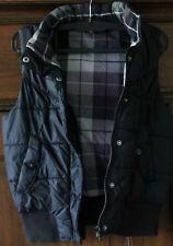 H & M DIVIDED Weste Steppweste Gr. 34 ärmellos dunkelblau/Futter kariert