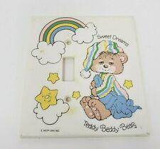 Vintage 1982 Teddy Beddy Bear Bedroom Nursery Light Switch Wall Plate Plastic
