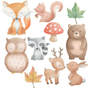 Woodland Forest Animals Nursery Wall Stickers - 5 sizes available