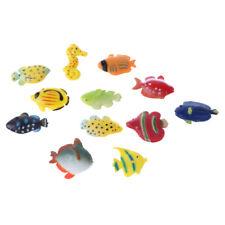 12x Plastic Tropical Fish Marine Animals Model Figure Toy Party Bag Favor