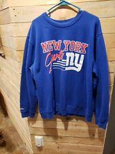 New York Giants Mitchell Ness Crewneck Sweatshirt Mens Blue NFL Size 2XL  MINT! 3a233767d