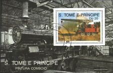 Sao Tome e Principe block213 (complete.issue.) fine used / cancelled 1989 Locomo