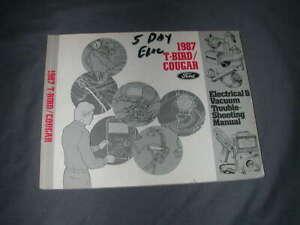 1987 FORD THUNDERBIRD / MERCURY COUGAR - OEM SERVICE (SHOP)  MANUAL