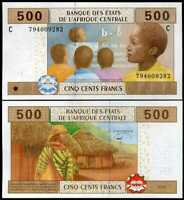 CENTRAL AFRICAN STATE CHAD 500 FRANCS 2002 / 2018 P 606 C NEW SIGN UNC