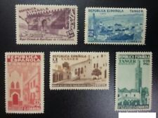 SPANISH MOROCCO (TANGER) CHARITY .Complete set stamps 1937 EDIFIL Nº 1/5