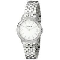 Bulova Women's Quartz Diamond Accent Sapphire Crystal 28mm Watch 96R181