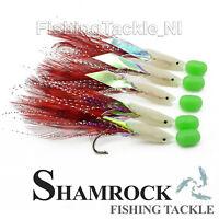 Shamrock Irish Tackle Lumi Head 5 Hook Sea Fishing Rigs Sabiki Mackerel Fishing