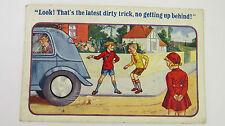 1938 Vintage Comic Postcard Volvo PV 51 Classic Car Spare Wheel Boot Floor