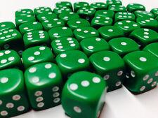 HOBBY Spazio Marino caos MTG WARGAMES nuovo con scatola 12mm Verde Opaco Dadi D6 X 50