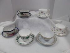 Lot  Of 6 Sets Fine Bone China Vintage Tea Cups and Saucers ENGLAND & JAPAN