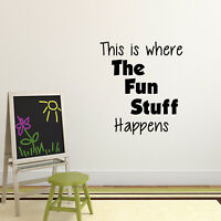And This Is Where The Magic Wall Sticker Bedroom Hipster Cool Kids MS405VC