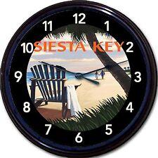 "Siesta Key Florida Gulf Keys Beach Atlantic Ocean Poster Wall Clock New 10"""