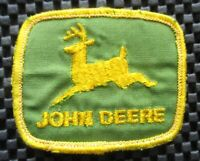 "JOHN DEERE EMBROIDERED SEW ON PATCH FARM GREEN BACK UNIFORM 3"" x 2 1/2"""
